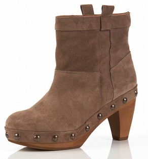 APPLE Clog Ankle Boot//Topshop